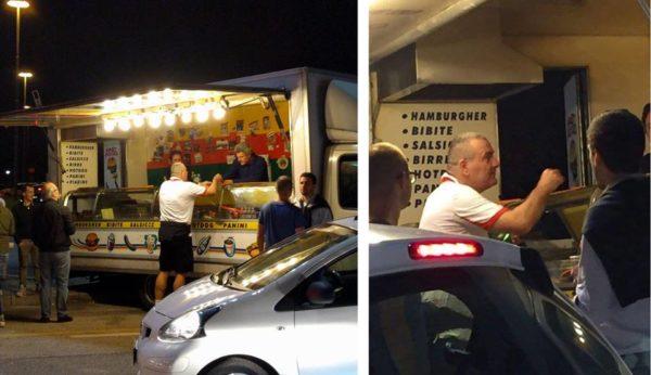 Repesa mentre acquista il panino dopo gara 4 a Venezia