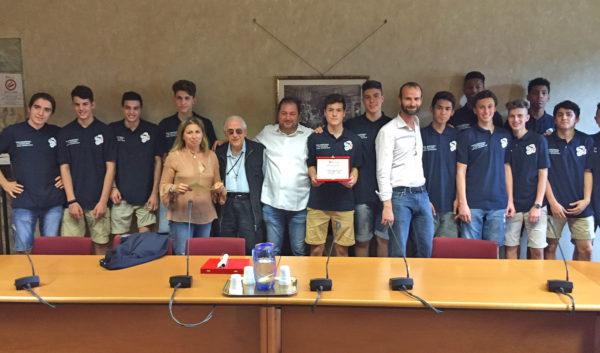 La premiazione del' Under 16 Sancat.