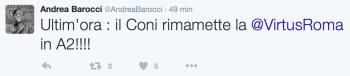 La notizia data da Andrea Barocci